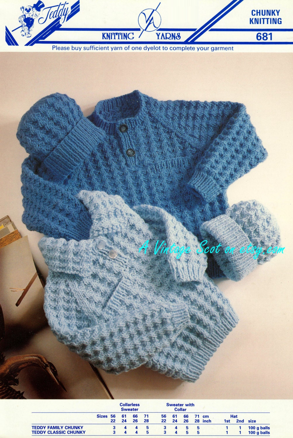 Toddler / Child's Chunky Bulky Sweater / Jumper & Hat 2