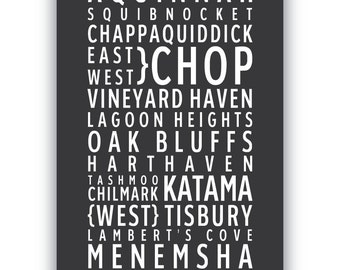 MARTHA'S VINEYARD - Typography poster print
