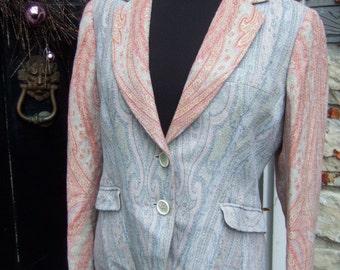 ETRO Italy Paisley Wool Blazer Jacket