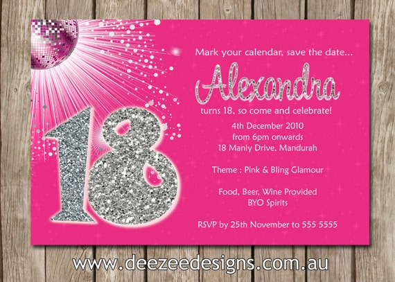 18Th Birthday Party Invitations Free as beautiful invitation ideas