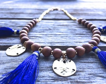 Sand Dollar Tassel Necklace