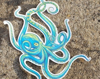 Octopus Temporary Tattoo - Temporary Tattoo - Octopus Tattoo - Beautiful Octopus Accessory for Summertime Fun