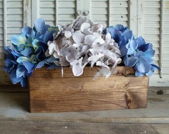 Rectangular Box, Wooden Box, Storage Box, Cottage Chic Decor, Wedding Decor, Wooden Planter Box