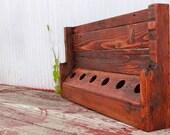 Reclaimed pallet wood furniture - Six Pack Wine Rack
