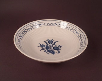 Blue and White Amcrest Concord Ironstone Cereal , Salad Bowl , Made in Japan