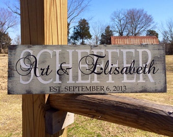 Family name sign. Family established sign. Personalized Family sign. custom name sign. custom wood sign. custom family sign. home decor.
