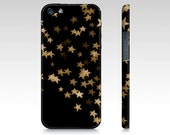 "iPhone 3G,4 , 4s, 5 ""Twinkle"" Case, Cover, Gold, Stars, Bokeh, Photography, Photo, Black, Whimsical"