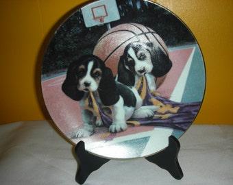 1990 Bryan China Company Firing Proof Beagle Dog Plate
