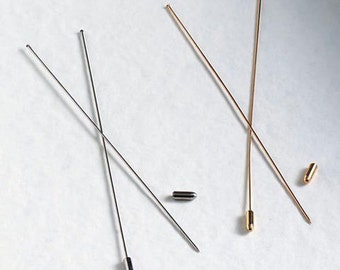 """Create your Own Hatpin-- 2 Blank 6"""" Hatpins, Choose Gold, Silver or a combination of Both"""