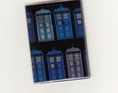 Dr Who Tardis Mini Wallet Business Card Holder Credit or Gift Cards Geek Techie Fabric Vinyl Protector ID Travel Accessory ATM Card Wallet