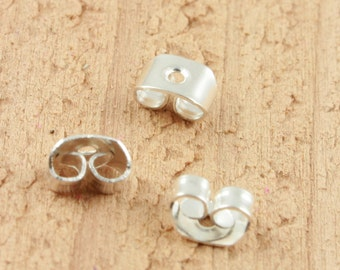 200 (100 pair)  Earring Backs for use with Stud Post Earrings, Nickel Free, Lead Safe, Ships from USA. Petite size