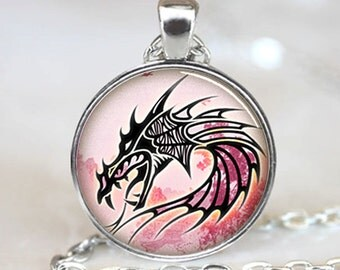 Dragon  charm Pendant, Dragon necklace  pendant, Dragon Photo necklace charm (PD0)