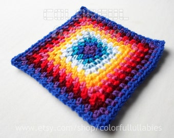 Single Crochet Granny Square chart. Pattern No 5 of the collection of Basic Crochet Shapes