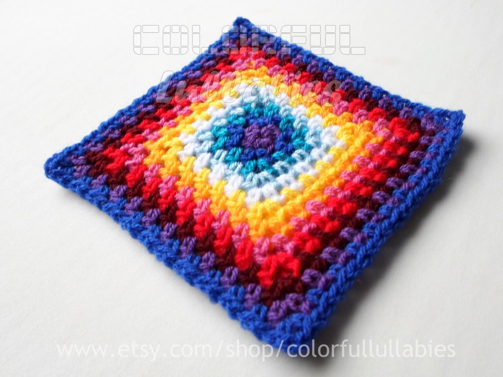 Basic Crochet Pattern For Granny Square : Single Crochet Granny Square chart. Pattern No 5 of the