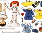 Madeline Paper Doll Vintage Printable Sweet Parisian Girl + Pepito Digital Ephemera Download Madeline Paper Craft / Madeline Birthday
