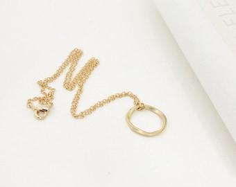 Circle necklace, Karma necklace ,Eternity love circle, Minimalist Jewelry, best friend necklace, Wedding, Bridesmaid gift