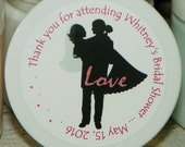 Wedding or Bridal Shower Favors - Personalized Whipped Body Butter (Bridal Silhouette - Design No. 6) - 2 oz. - Paraben Free