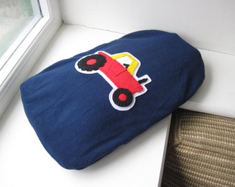 PDF PATTERN: Tractor Hot Water Bottle Cover Sewing Tutorial - DIY childrens bedroom vehicles theme - boys girls cars