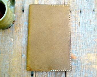 Sandstone Leather Medium Moleskine Notebook Cover