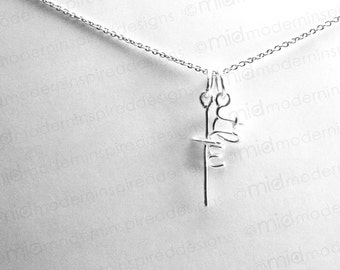 "True Love Waits Necklace - ""TLW"" - Sterling Silver - 925 - Christian Jewelry - Purity Commitment - Faith Jewelry - Promise - Abstinence"