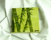 Bamboo-zle by Donna Mark // miniature painting