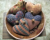 Patriotic Hearts, 4th of July, bowl fillers, bells, stained