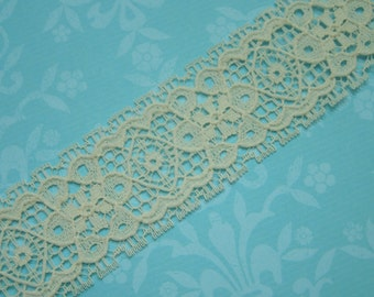 1 yard of 1 1/2 inch Vintage Ivory Chantilly lace trim for bridal, baby, veils, altered couture, costume by MarlenesAttic - Item HH4