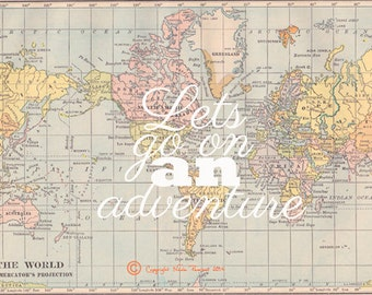 map quote etsy