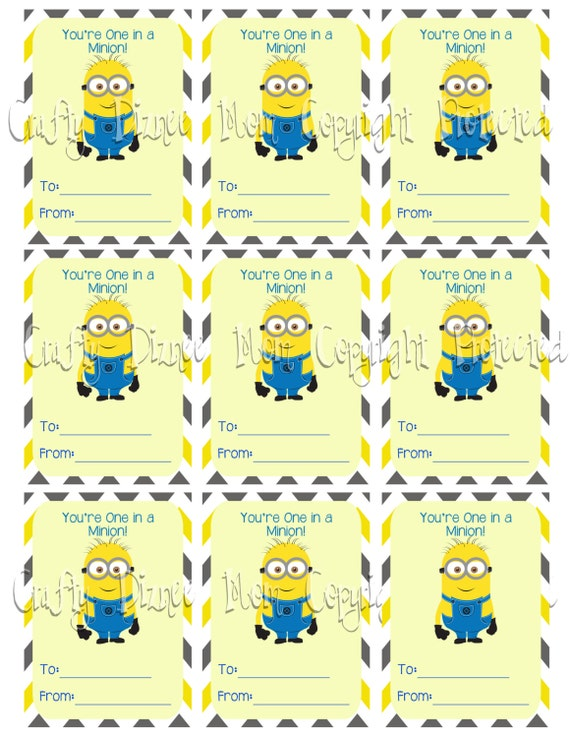 Sizzling image throughout you re one in a minion printable