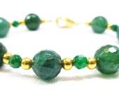 Green Faceted Bracelet