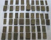 125 brass type-set letters assemblage art supplies