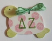 Delta Zeta Turtle Ornament.