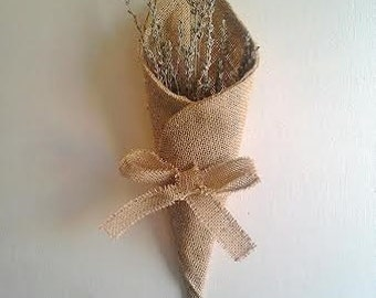 Burlap Pew & Aisle Cones-Flower Cones-Many Colors Available-Rustic/Country/Folk-Wedding/Decor/Reception/Ceremony
