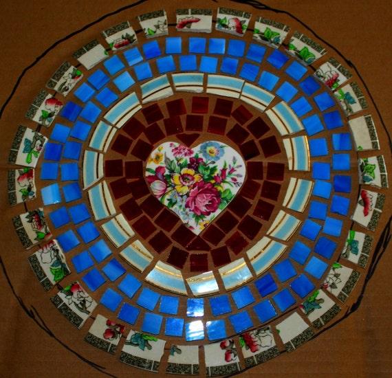 mosaic tile focals broken plates table top set romantic. Black Bedroom Furniture Sets. Home Design Ideas