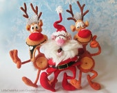 S8 Santa and Reindeers - 2 Amigurumi Crochet Patterns PDF file by Bakaeva Etsy