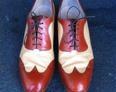Mens Deluxe Edition Florsheim Spectator Two Tone Wing Tip Made Men Don Draper