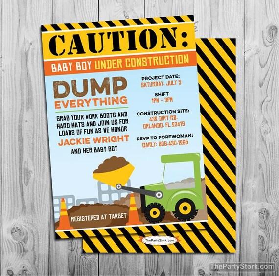 free printable construction invitations