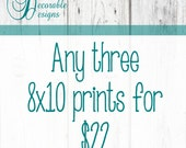 """Any Three 8x10"""" Wall Art Prints by Decorable Designs"""