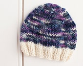 CLEARANCE - Ready to Ship - Handpsun Merino Wool Newborn Beanie Hat - Photography Prop - RTS
