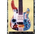 flea punk bass famous guitar art, music wall decor, musicians gift, gift for guy, gift for boyfriend, hipster, dude, rock n roll art