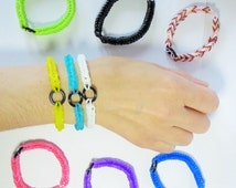 Full Circle Loom Band Bracelets, friendship bracelets, party favor bracelets, adjustable bracelets, Fishtail Bracelets, Spring Jewelry