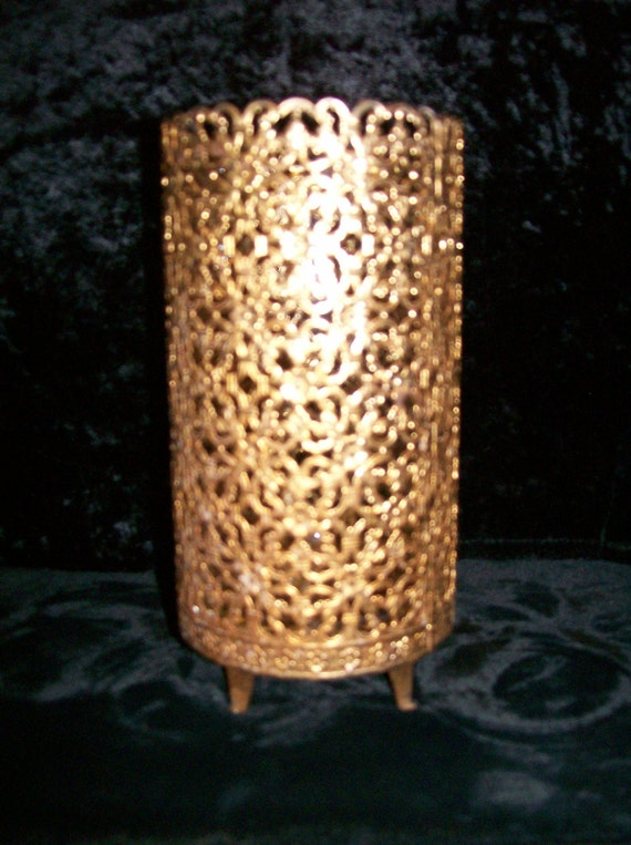 Ormolu Gold Filigree Candle Holder Or Vase
