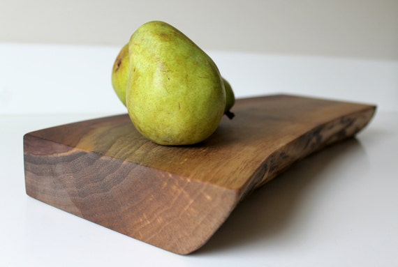 Locally salvaged Live Edge Walnut cutting board - Medium