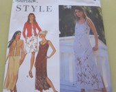 Simplicity 9219  Pattern Summer Spagetti Strap Dress n Jacket Pattern Size 6-16  Out of Print