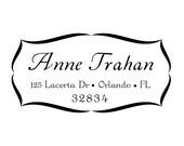calligraphy custom address stamp,personalized SELF INKING Return address stamp,wedding stamp,S10