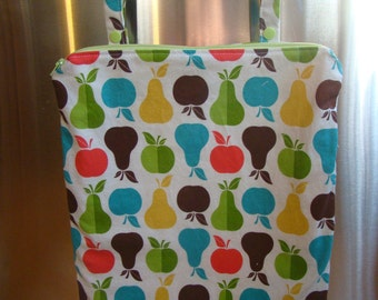 "Made to Order: Kitchen Wet Bag 12"" X 15"", zippered with oven bar handles, you choose the print!"