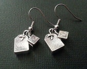 Silver Teabag Earrings