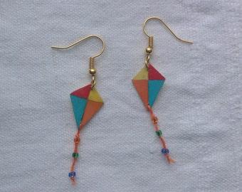 Colourful kite earrings