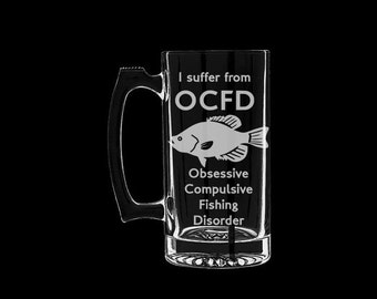 Fishing Disorder Fish Beer Mug Personalized Customized Fisherman Funny Father's Day