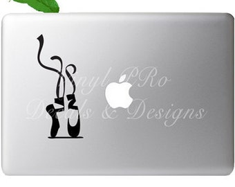 Ballet  Pirouette Dance LIfe Ballerina Performer Shoes Decal for Apple Macbook or PC Laptop